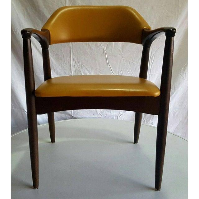 Danish Modern Teak Desk Chair - Image 3 of 5