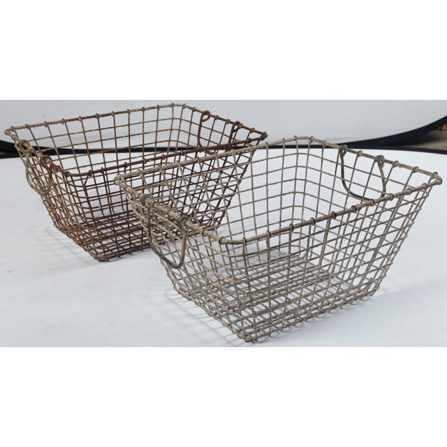 20th Century French Oyster Baskets - a Pair For Sale - Image 11 of 11