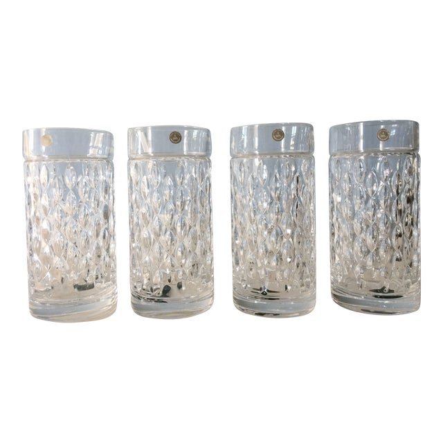 Ralph Lauren Aston Highball Crystal Glasses - Set of 4 For Sale