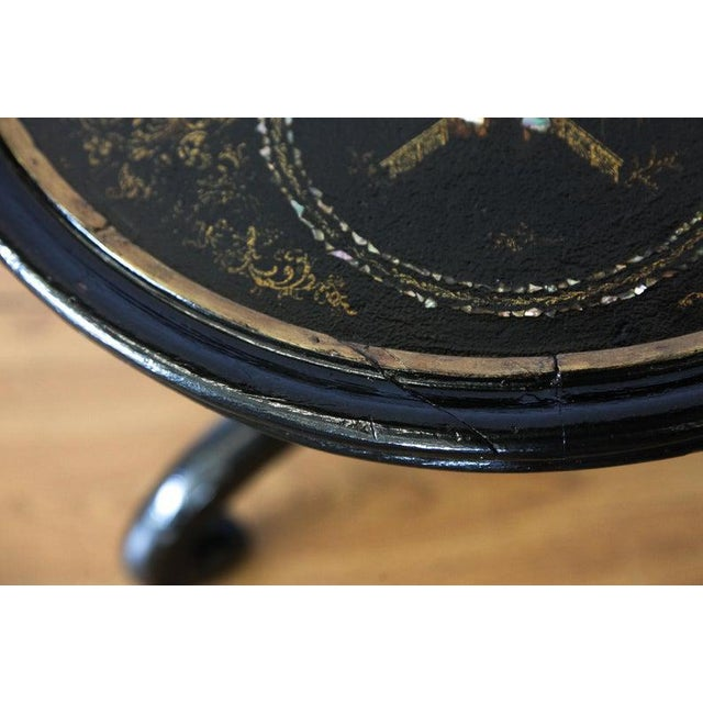 1880s Round Chinoiserie Occasional Table For Sale - Image 4 of 8