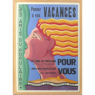 French Art Deco Vacances Poster by Marsas