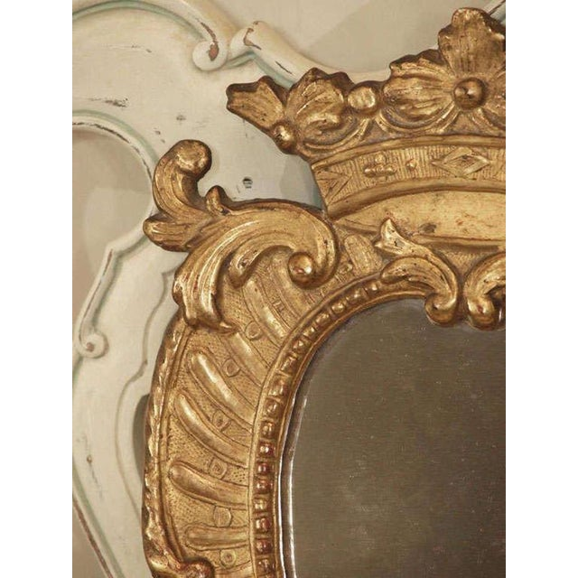 Early 19th Century Pair of Italian Gilt Mirrors For Sale - Image 5 of 8