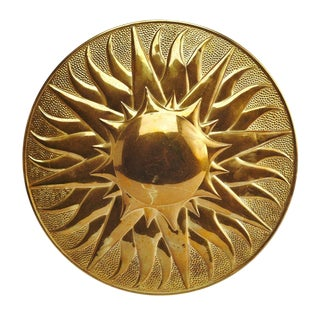 Brass Sun Plaque