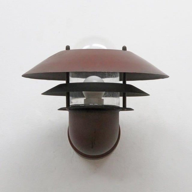 Mid-Century Modern Nordlux Danish Outdoor Wall Lights - a Pair For Sale - Image 3 of 11