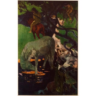 """1950s Paul Gauguin """"The White Horse"""", First Edition Lithograph For Sale"""