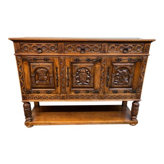 Late-19th Century Renaissance Revival Wood Buffet For Sale