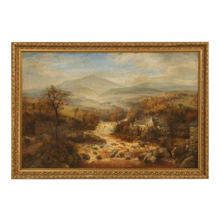 Antique English Landscape Oil Painting For Sale