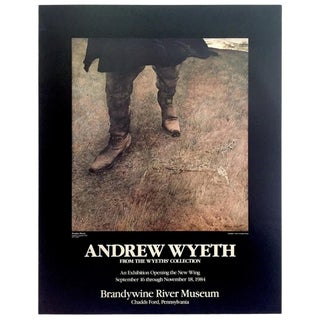 "Andrew Wyeth Rare Vintage 1984 Lithograph Print Exhibition Poster "" Trodden Weed "" 1951 For Sale"