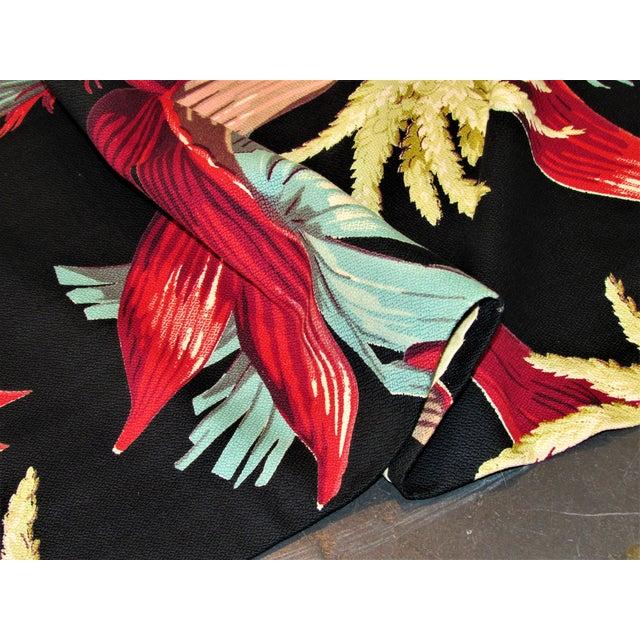 1930's Tropical South Beach Vintage Barkcloth Fabric Drape For Sale - Image 11 of 13