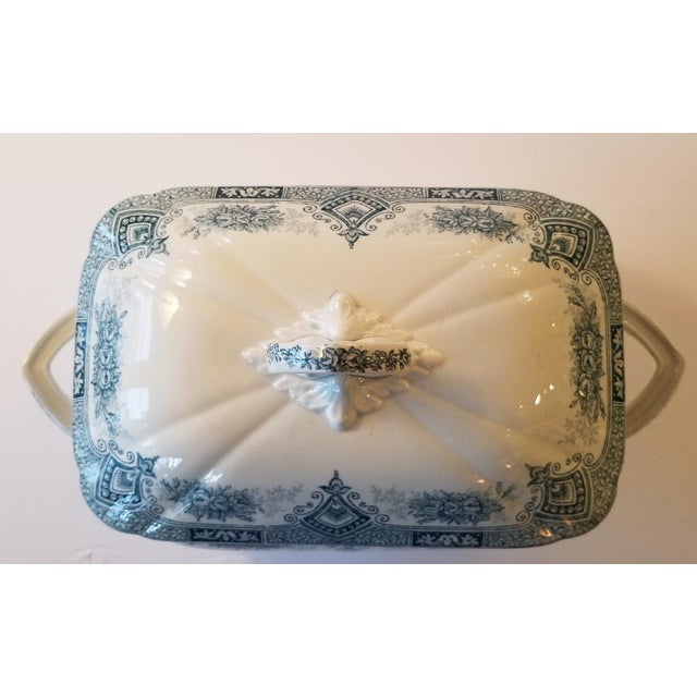 1910s 1910s French Transferware Lidded Tureen For Sale - Image 5 of 9