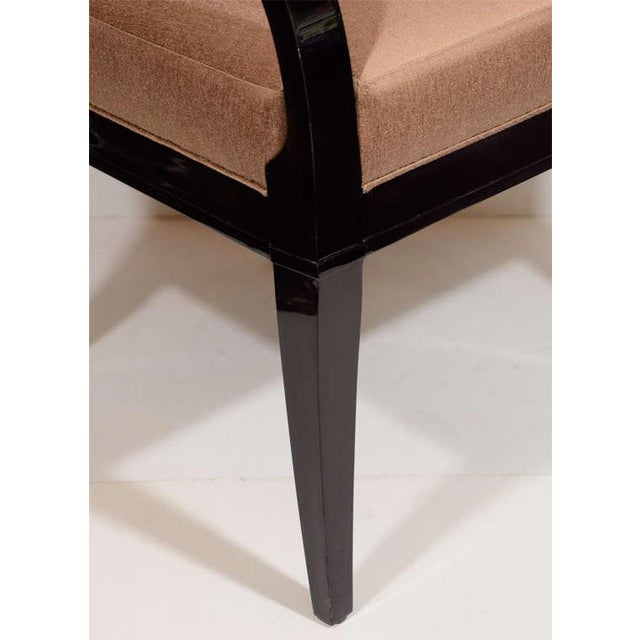 Modernist Dining Chair with Bent Arm Design For Sale - Image 4 of 8