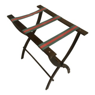 1990s Mid-Century Modern Gucci Style Luggage Rack