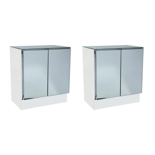 Ello Mid-Century Mirrored Night Stands - Pair - Image 1 of 8