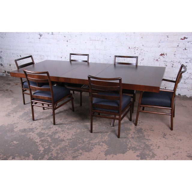 Danish Modern Robsjohn Gibbings for Widdicomb Mid-Century Modern Walnut Dining Set For Sale - Image 3 of 13