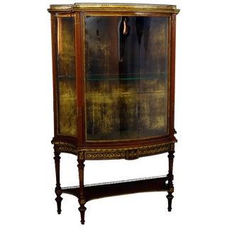 19th Century French Louis XVI Mahogany & Ormolu Locking Vitrine For Sale