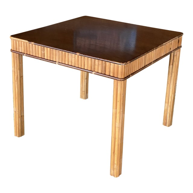 Vintage Split Bamboo Table For Sale
