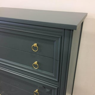 1960s Mid-Century Modern Thomasville Dark Gray Wood Chest of Drawers Preview
