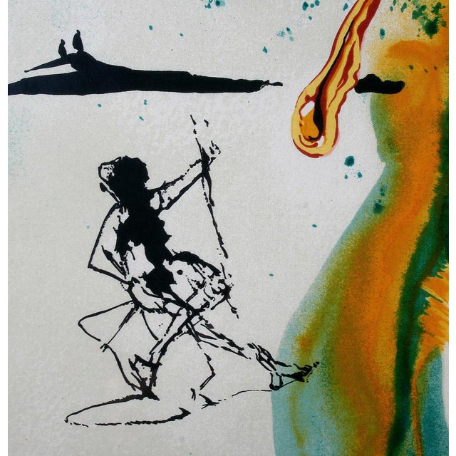 Green The Emerald of the Tablet Salvador Dali Silk Serigraphy 1989 - Edition of 2000 For Sale - Image 8 of 11