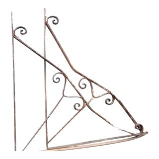 Wrought Iron Building Brackets - a Pair