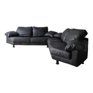 4 Piece Postmodern Italian Modular Sectional Sofa For Sale