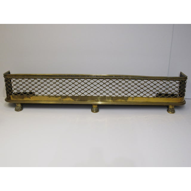 Brass Lattice Fireplace Set For Sale In West Palm - Image 6 of 11
