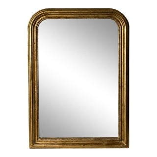 Hand-Carved Napoleon III Style Gilt Louis Philippe Beveled Mirror - Medium For Sale
