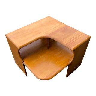 Vintage Conant Ball Solid Wood Corner Table