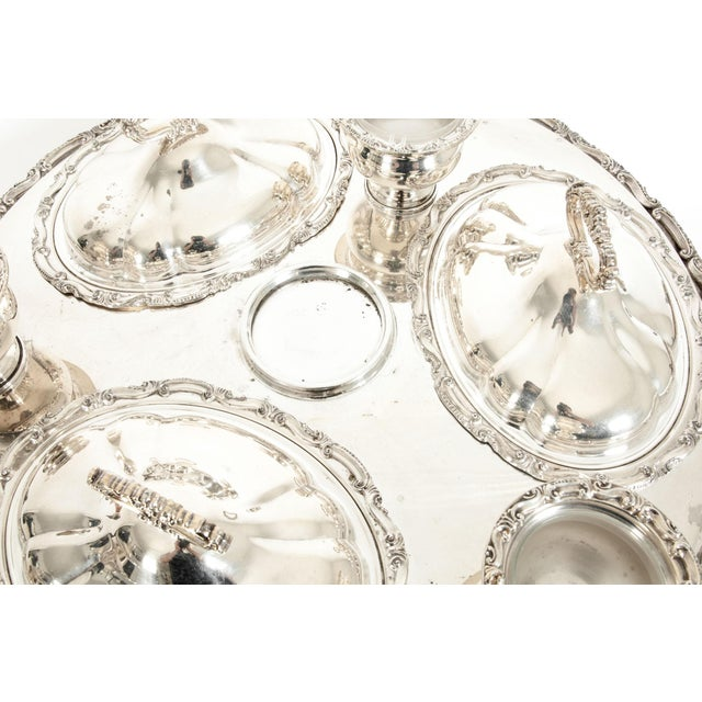 Silver Very Large American Plated 19 Piece Serving Dish For Sale - Image 8 of 13