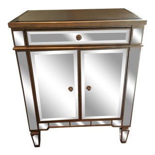Silver Mirrored Cabinet