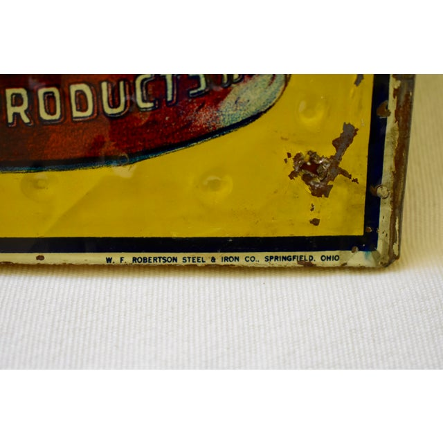A lithograph printed, quilted tin sign advertising Grape-Ola Soda, circa late 1920s – early 1930s. Produced by the WF...