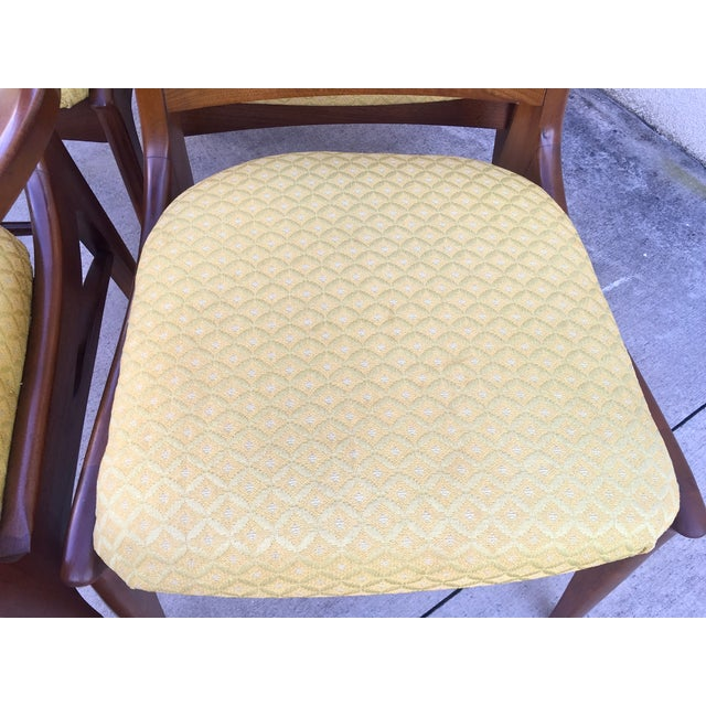 Mid Century Mod Curved Tailback Dining Chairs - 6 - Image 9 of 11