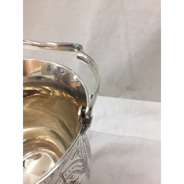 Antique Etched Silver Vase For Sale In Raleigh - Image 6 of 10