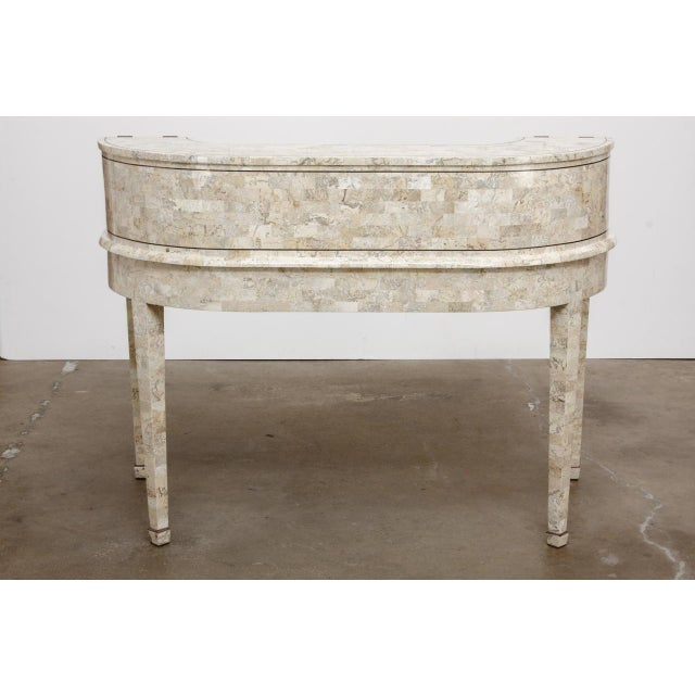 Tessellated Stone Carlton House Desk by Maitland-Smith For Sale - Image 12 of 13