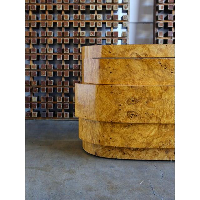 Mid-Century Modern 1980s Vintage Sculptural Burl Wood Chest For Sale - Image 3 of 11