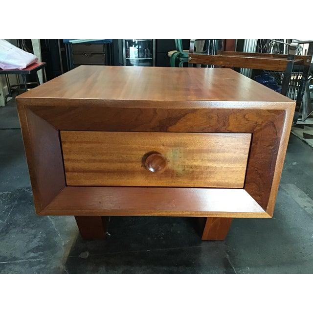 1970s Scandinavian Modern Teak Oversized Side Table For Sale - Image 4 of 11