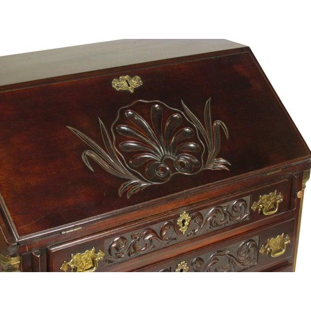 Brown 19th-C. Irish Georgian-Style Secretary Desk For Sale - Image 8 of 12