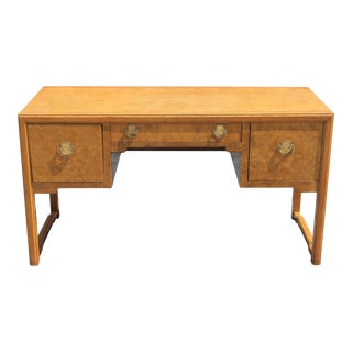Thomasville Mid-Century Modern Exotic Burl Wood Writing Desk For Sale