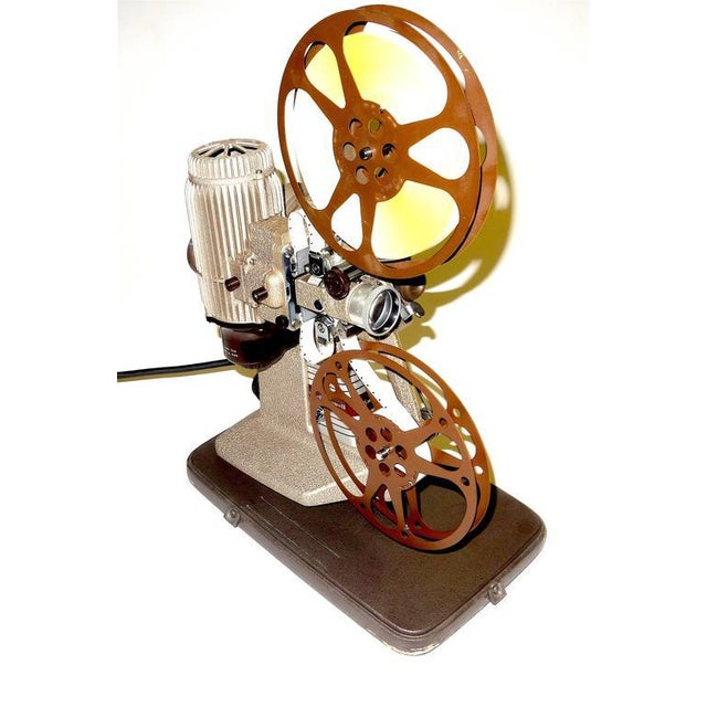 Art Deco 16mm Vintage Movie Projector Circa 1940. Rare Sculpture Piece For Media Room Display. For Sale - Image 3 of 8