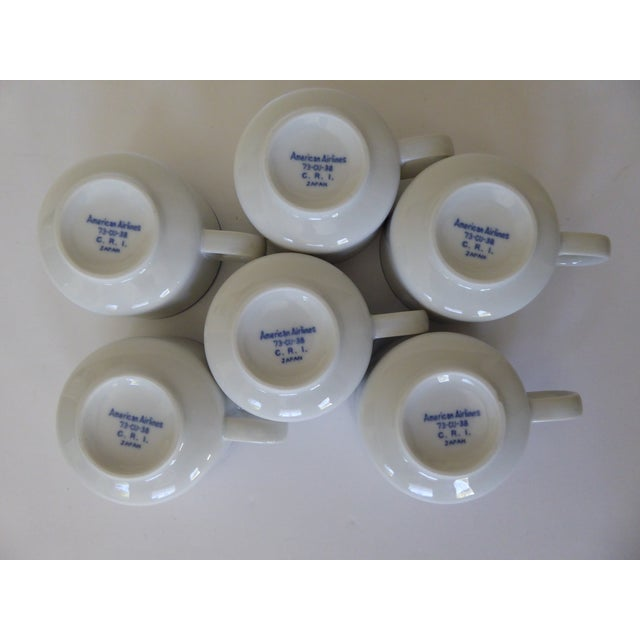 1973 American Airlines Coffee/Tea Cups - Set of 6 For Sale In Portland, OR - Image 6 of 7