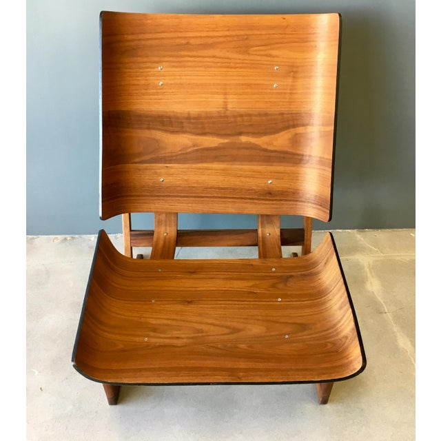 Grete Jalk Style Mid-Century Bent Walnut Side Chair - Image 3 of 10