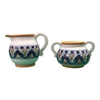 Franco Mari Italian Pottery Cream & Sugar - A Pair