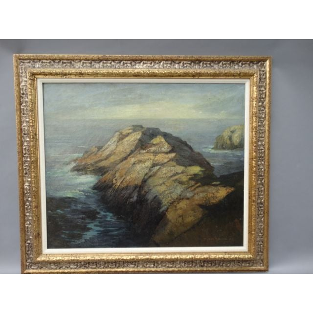 DeWitt Parshall Point Lobos Oil on Canvas - Image 2 of 10