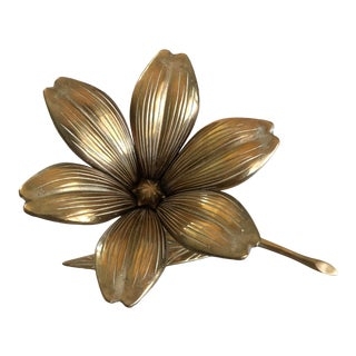 1950s Vintage Brass Lily Flower