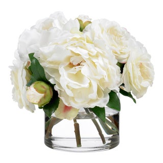 Diane James Faux Camellia and Peony Bouquet For Sale