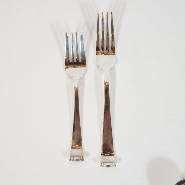 Allan Adler Sterling Sliver Modern Georgian Hand Wrought Flatware Service for 24 For Sale - Image 9 of 13