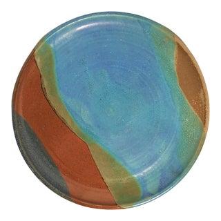 Vintage Mid-Century Decorative Ceramic Plate For Sale