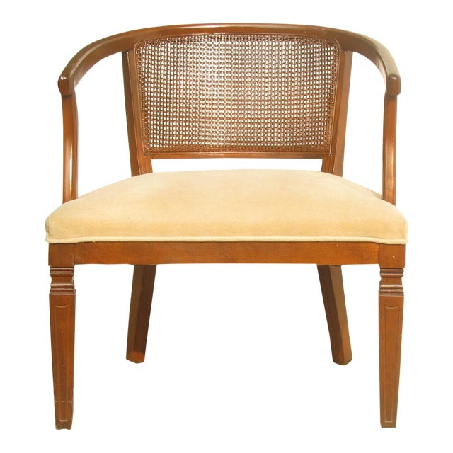 Mid-Century Caned Barrel Chair For Sale In Tulsa - Image 6 of 6