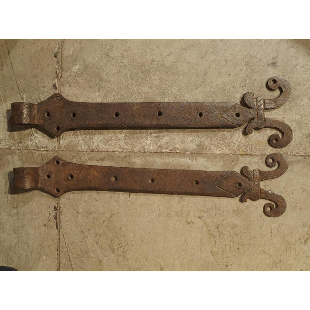 Pair of 15th Century Iron Door Straps from France For Sale - Image 9 of 9