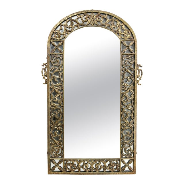 Oscar Bach Bronze Wall Mirror For Sale