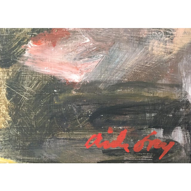 """Aida Fry Fry Oil Painting """"Heavy Petting"""", Contemporary Red Figurative Scene For Sale - Image 4 of 7"""